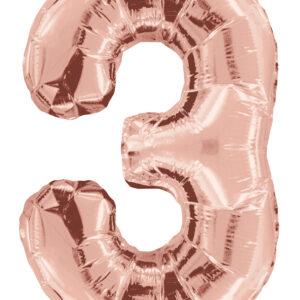 Numero 3 Gold Rose 34″