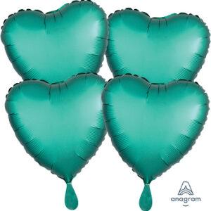 Corazon satin luxe color verde – Jade 18″ – 4ud