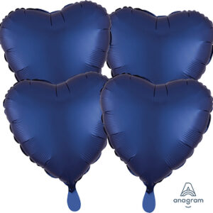Corazon satin luxe color azul oscuro 18″ – 4ud
