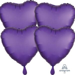 Corazon satin luxe color purpura – purple royal 18″ – 4ud