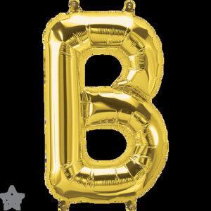 Letra B dorada 16 pulgadas