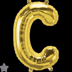 Letra C dorada 16 pulgadas