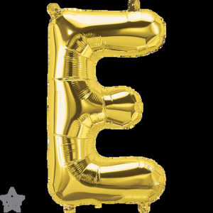 Letra E dorada 16 pulgadas