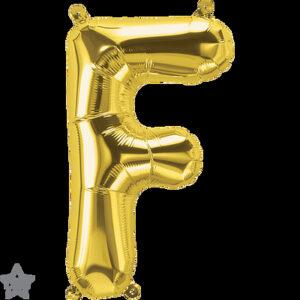 Letra F dorada 16 pulgadas