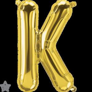 Letra K dorada 16 pulgadas