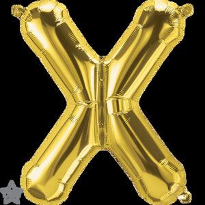 Letra X dorada 16 pulgadas