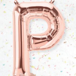 Letra P oro rosa 16 pulgadas