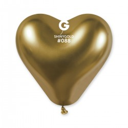 CRB120 Shiny corazon #088 Gold  – Dorado Cromado
