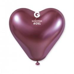 CRB120 Shiny corazon #091 Pink – rosado cromado