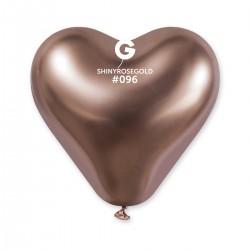 CRB120 Shiny corazon #096 Gold Rose – oro rosa cromado
