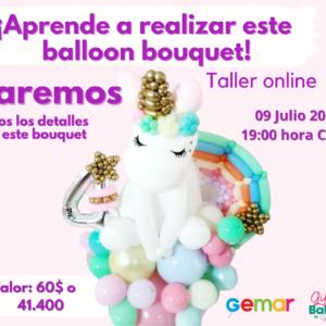 Taller Online: Bouquet estilo unicornio 09 de julio 2021